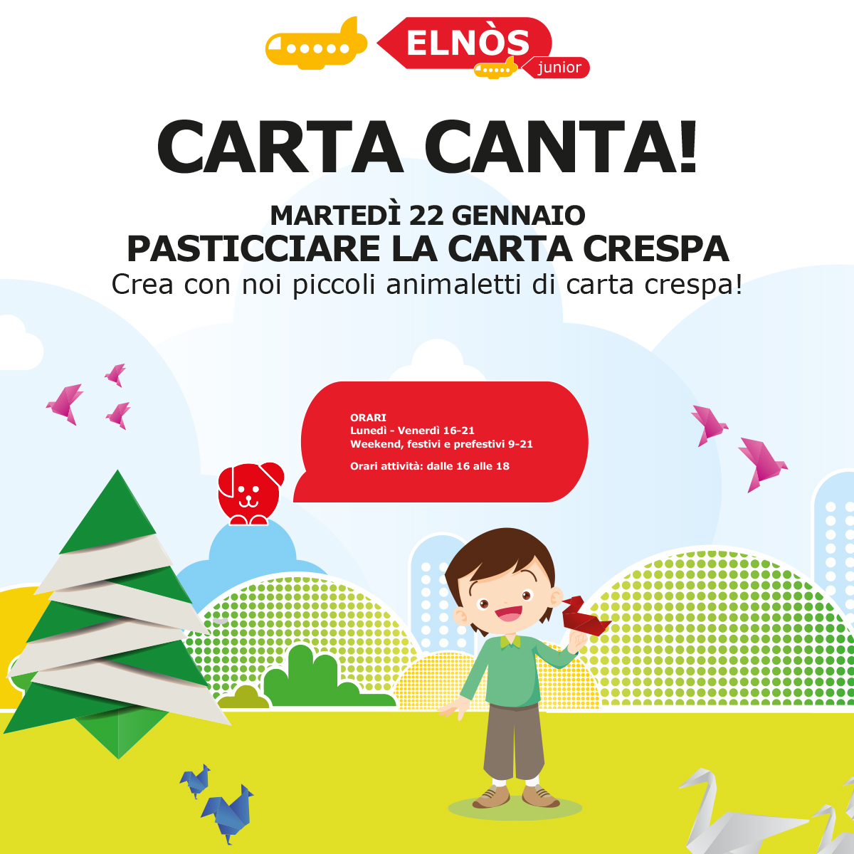 ELNÒS Junior - CARTA CANTA - Pasticciare la carta crespa